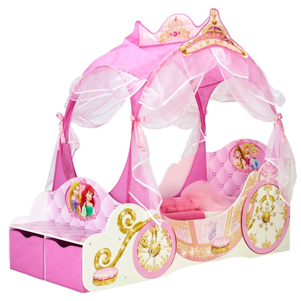 Disney Princess Carriage 2 Drawer Storage Bed Disney Princess