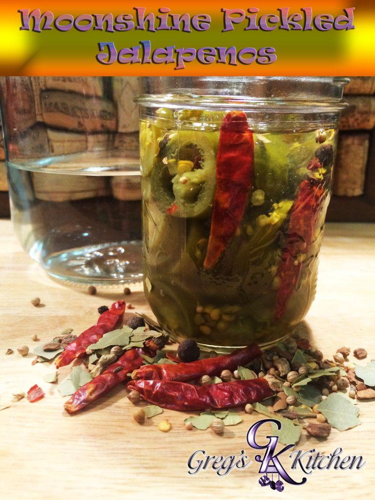 Moonshine Pickled Jalapenos Moonshine recipes, Pickled
