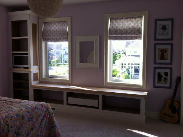 Bedroom Window Bench just beachy, built-ins, window seat , window bench, window bench
