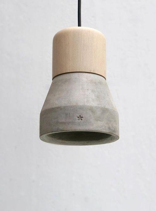 Concrete And Wood Lamp Com Imagens Lustre De Madeira Lampada De Concreto Projeto Com Concreto