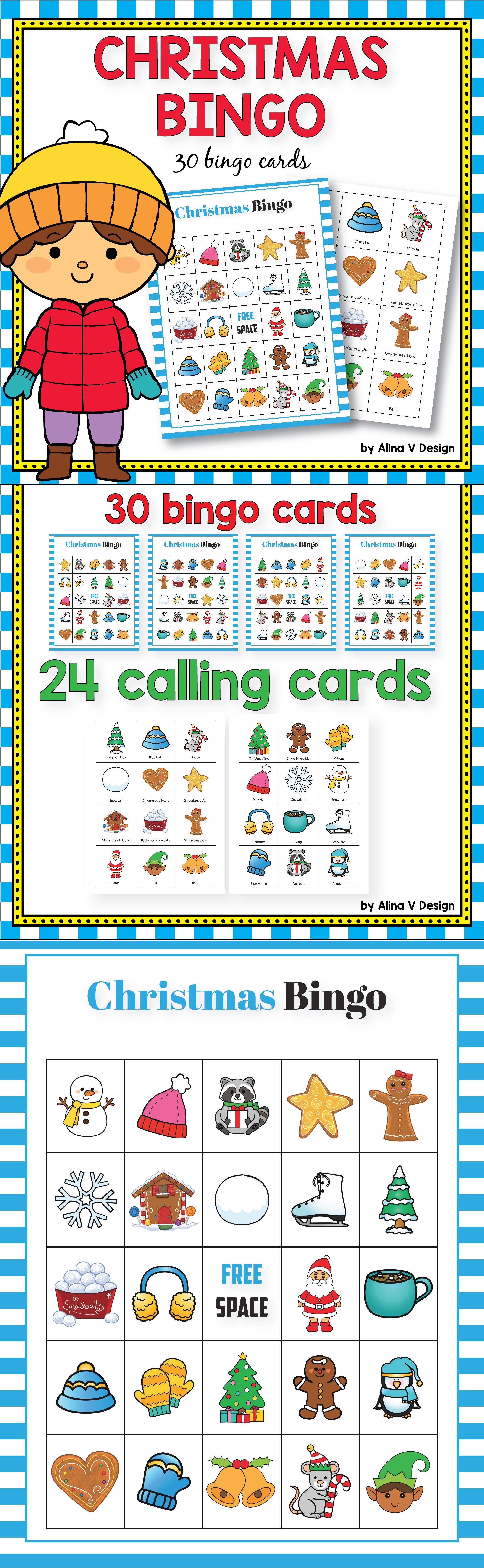 Christmas Bingo Christmas bingo, Printable games for