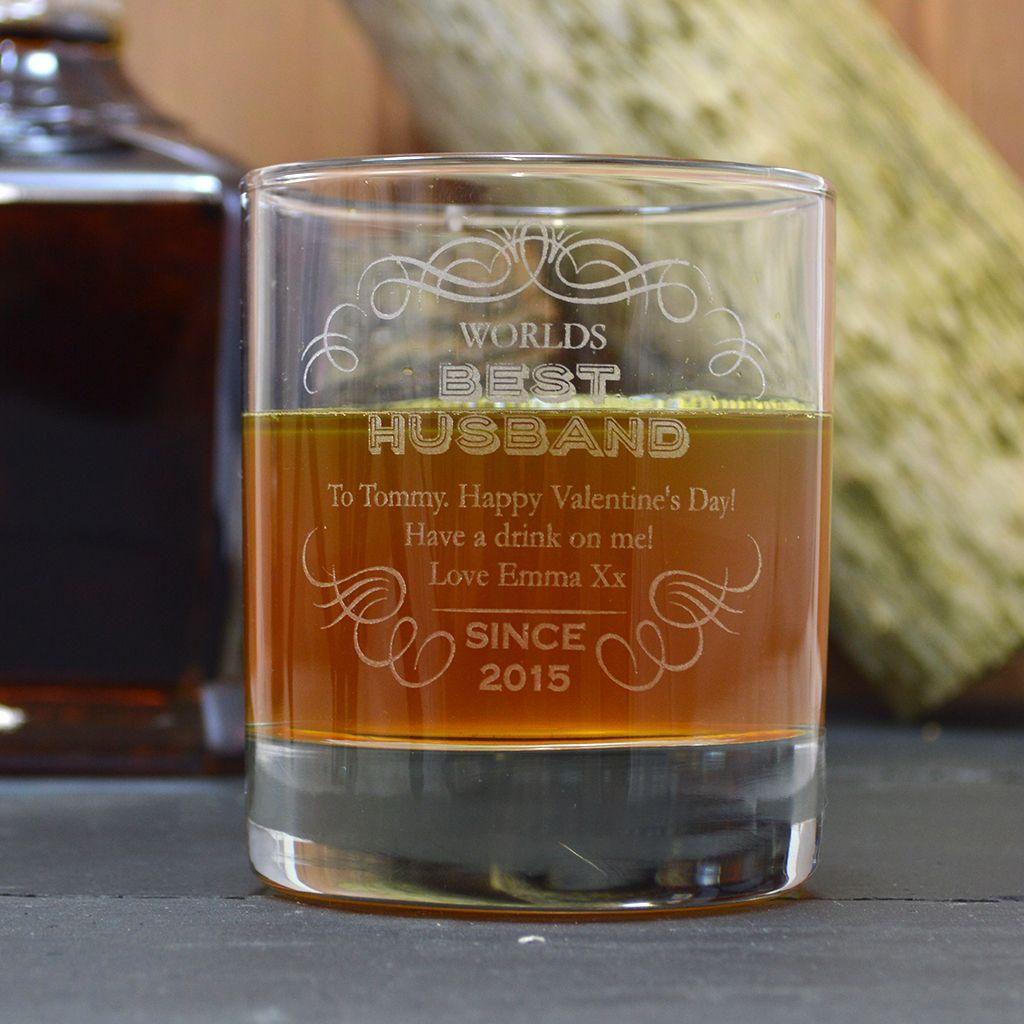 Best husband engraved whisky tumbler