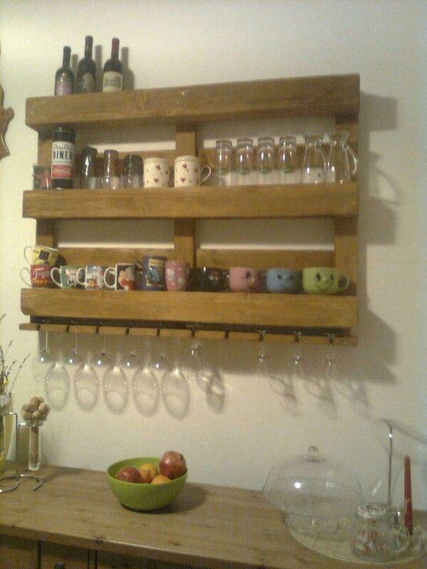 Bancale porta bicchieri e bottiglie pallet pinterest - Porta bicchieri ...