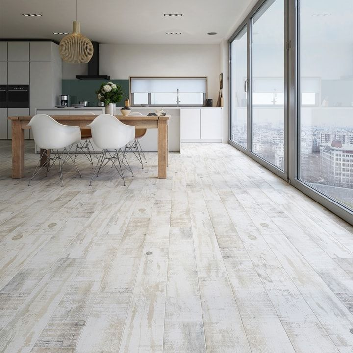Beautiful White Wood Effect Tiles Perfect For Stylish Homes Roof Wood Effect Tiles Have High Colour And Patter House Flooring Rustic Flooring White Tile Floor