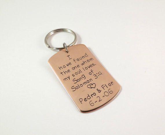 Personalized Copper Keychain - 7th Anniversary Gift Idea - Key Chain - Mens  Keychain - Womens Keychain - Dog Tag Keychain - by accessoriesbyregina 0958d4c51b