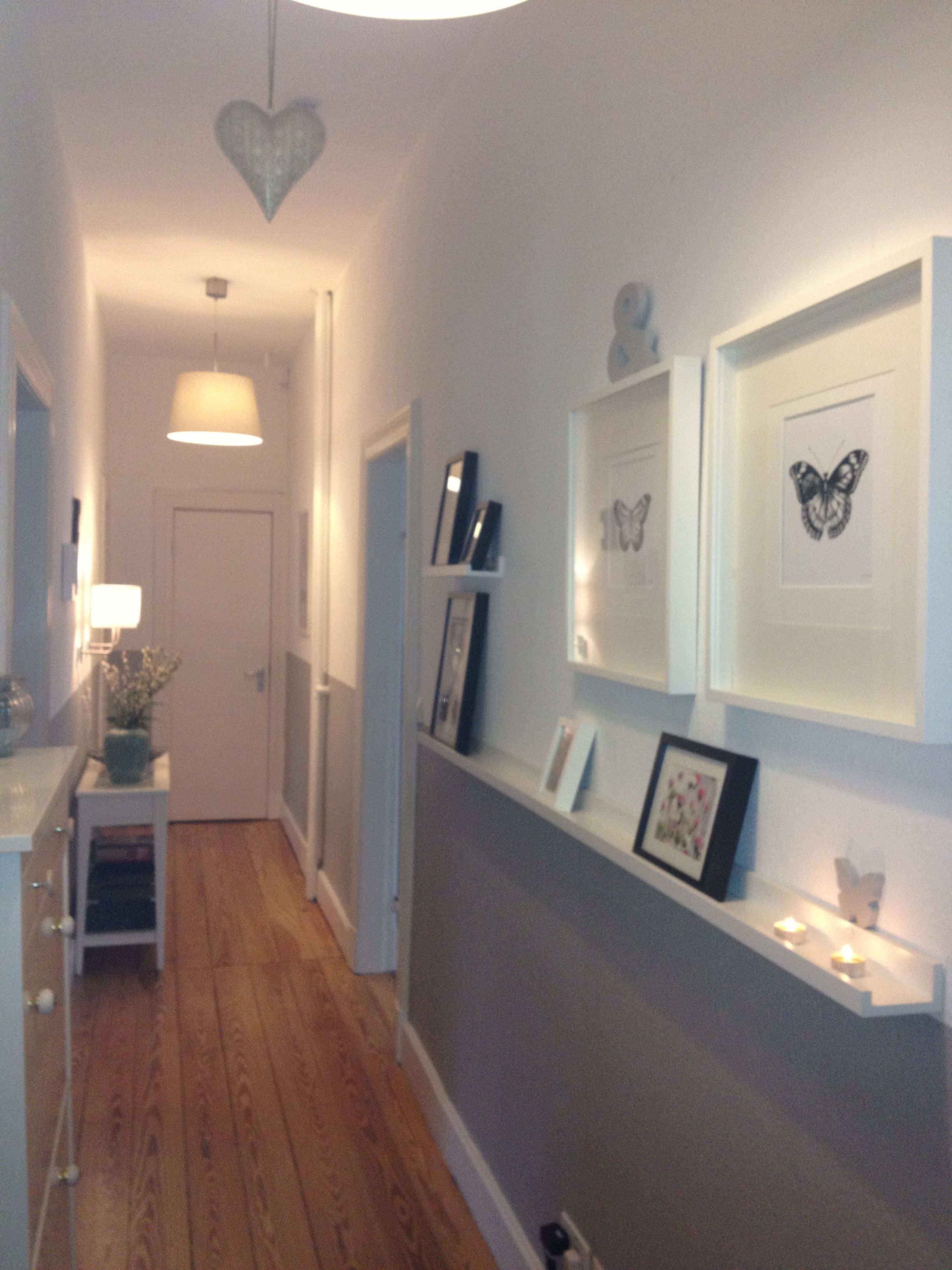 Der flur home pinterest haus einrichtung und flure - Wandgestaltung zweifarbig ...