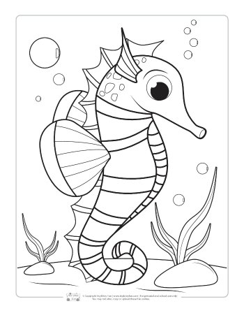 Ocean Animals Coloring Pages for Kids Animal coloring