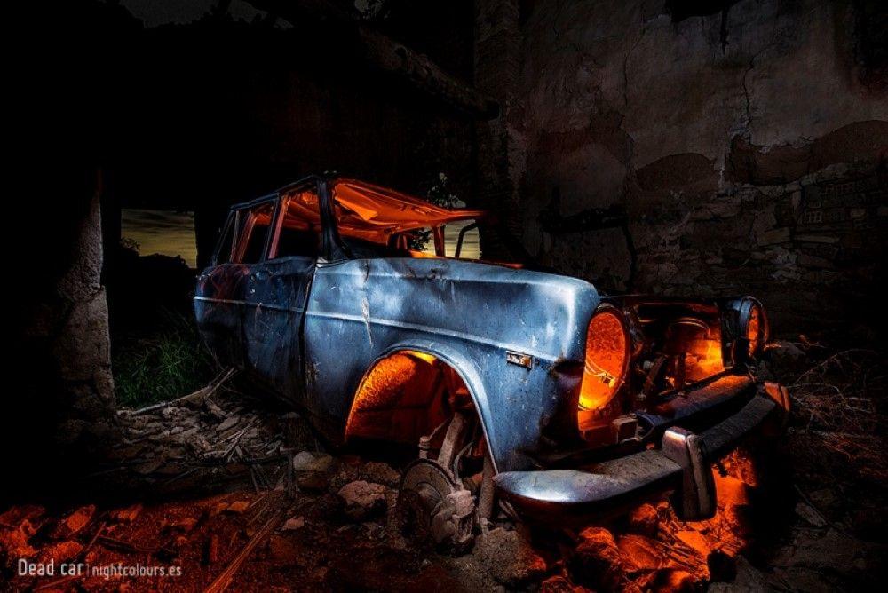 Fotografía Nocturna De Larga Exposición Photoinside Dead Car