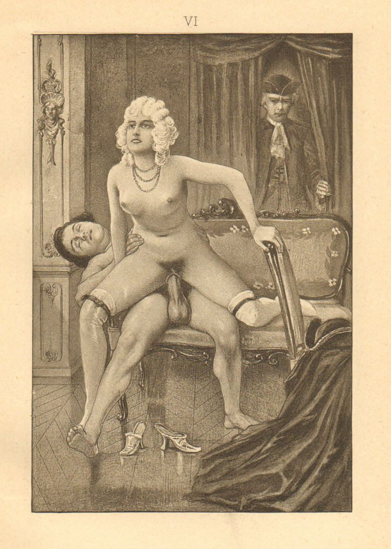 1907 rare original erotic plate by Paul Avril for John Cleland's infamous  'Fanny Hill'