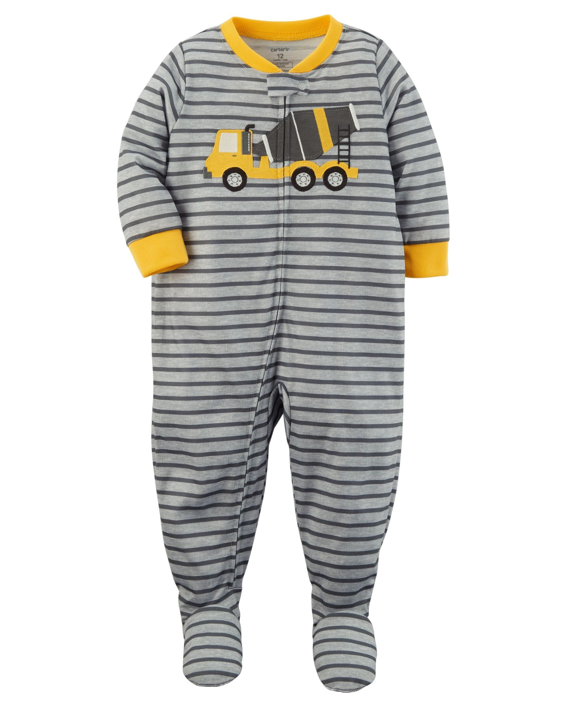 731fd3c40 Baby Boy 1-Piece Construction Snug Fit Cotton PJs
