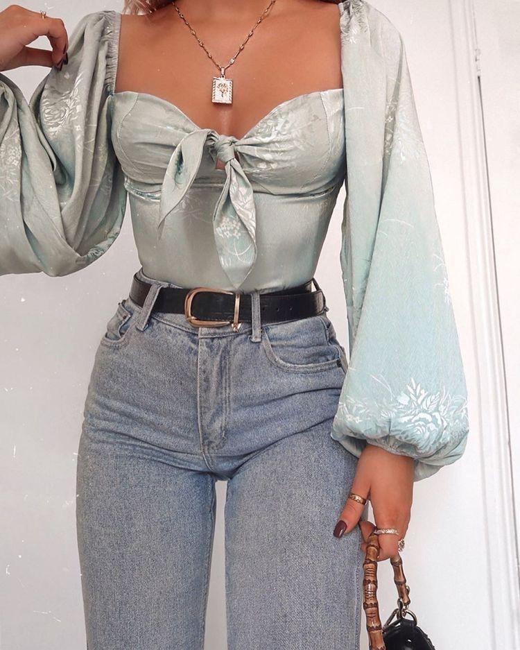 Looks diferentes para las que aman usar jeans a diario #modafemenina Looks difer…