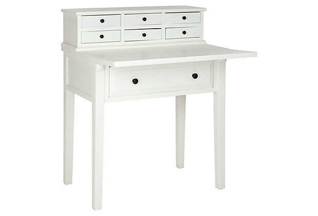 Elgin Fold Down Desk White On Onekingslane For Entryway To Help