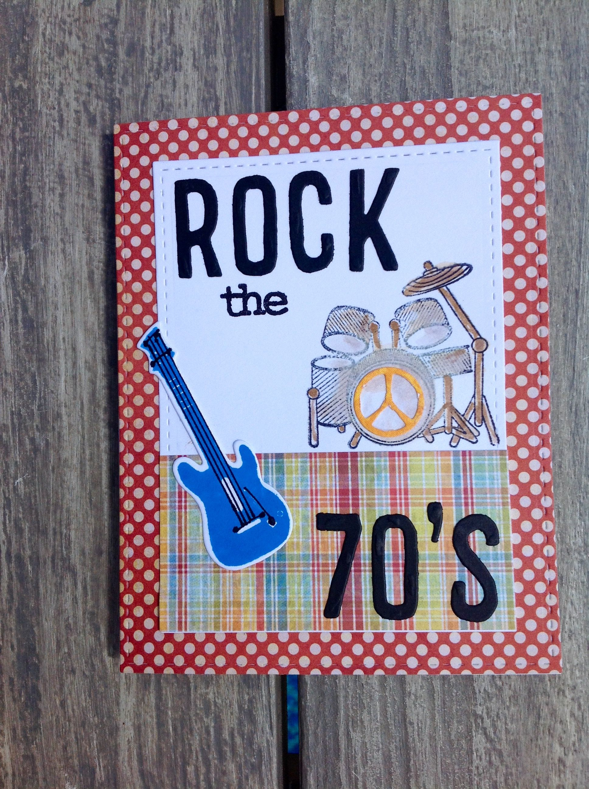 70th Birthday Card With A Rocking Chair Image On The Inside By
