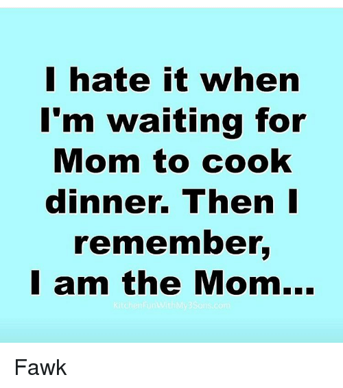 I Hate Cooking Meme