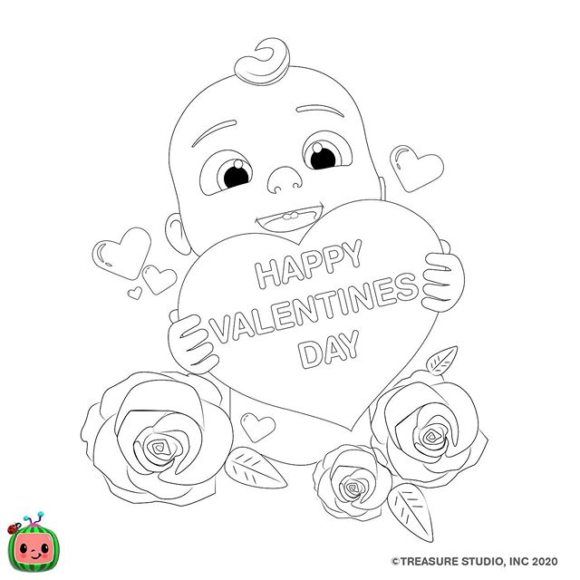 Cocomelon Nursery Rhymes Cocomelon Official Instagram Photos And Videos Coloring Pages Download Valentines Happy Valentines Day