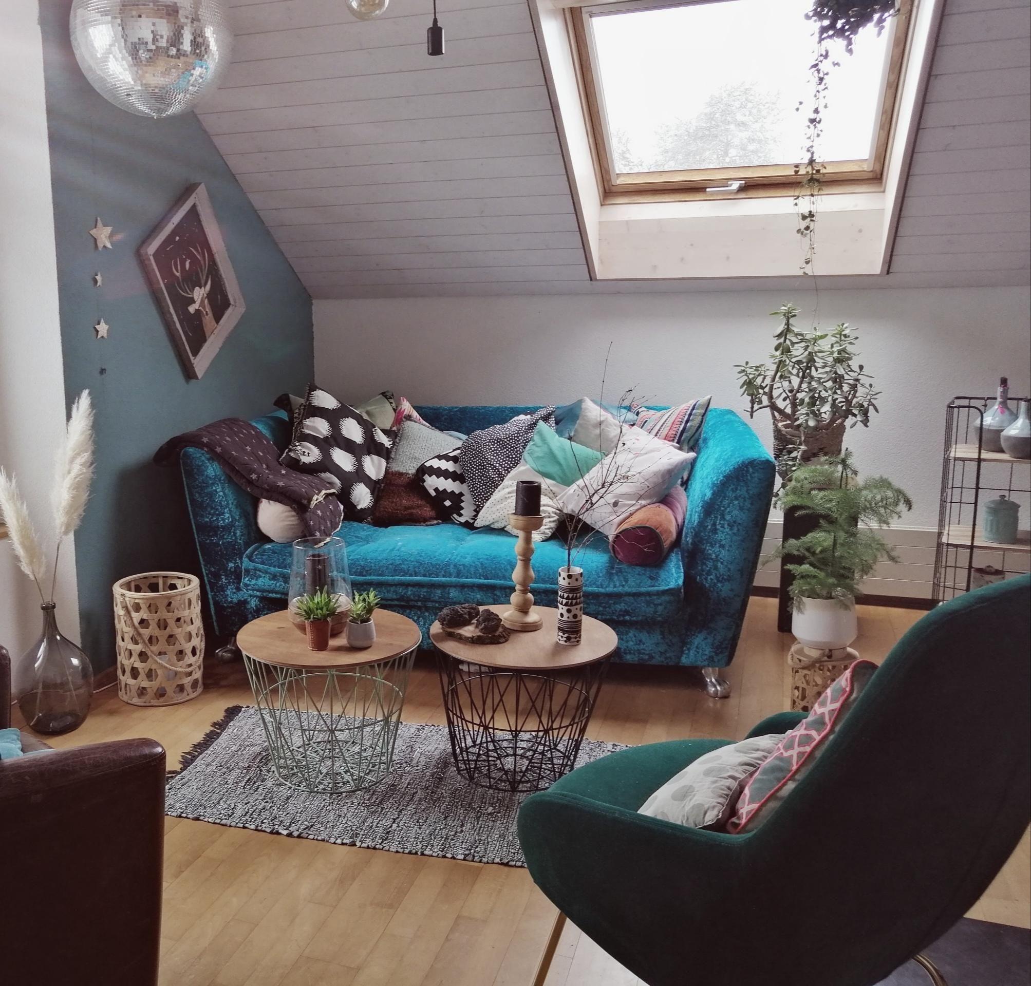 Dachschräge Wohnzimmer Ideen