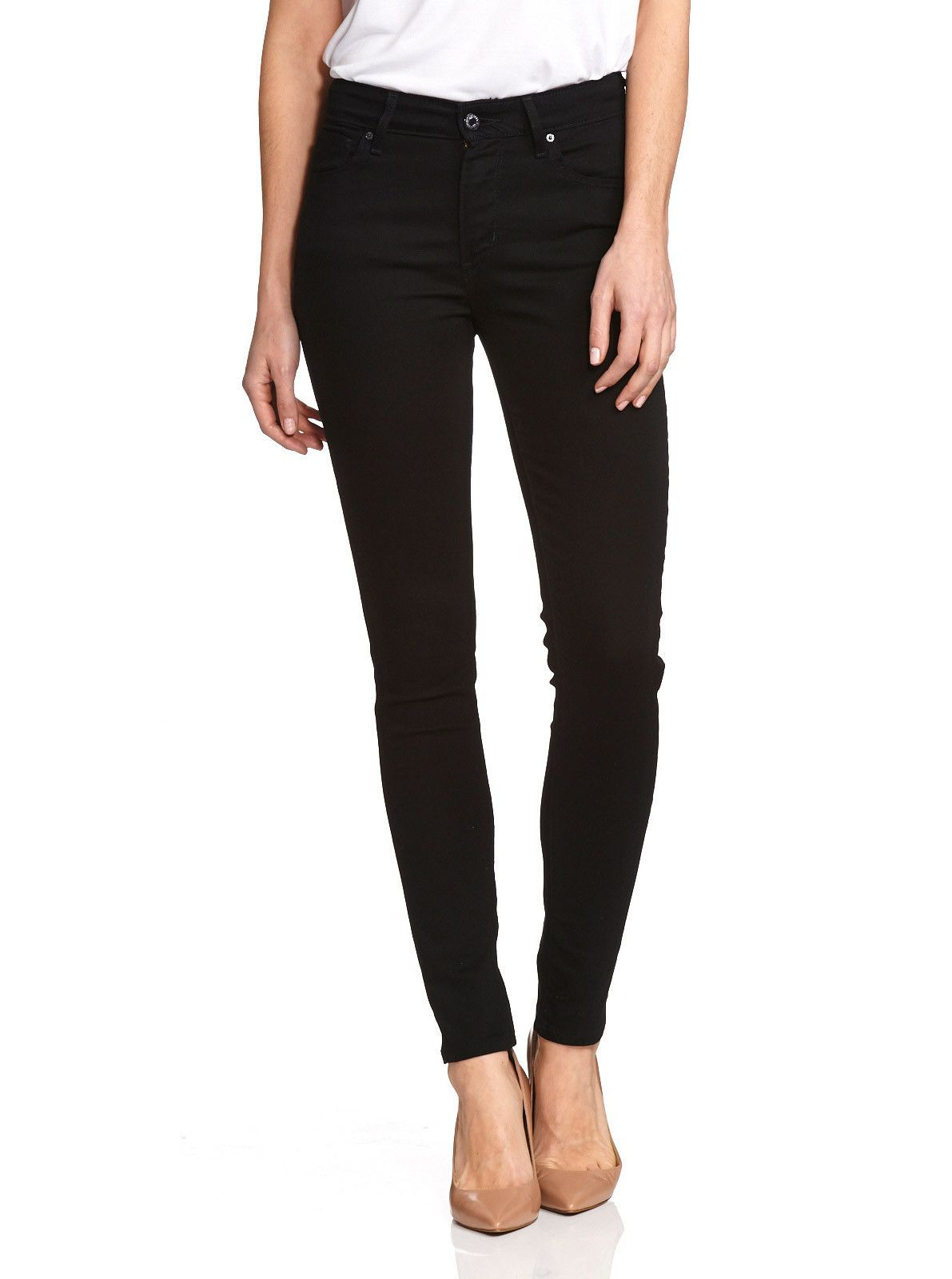 Levi's Womens 721 High Rise Skinny Black Sheep Denim Jeans Size 0 ...