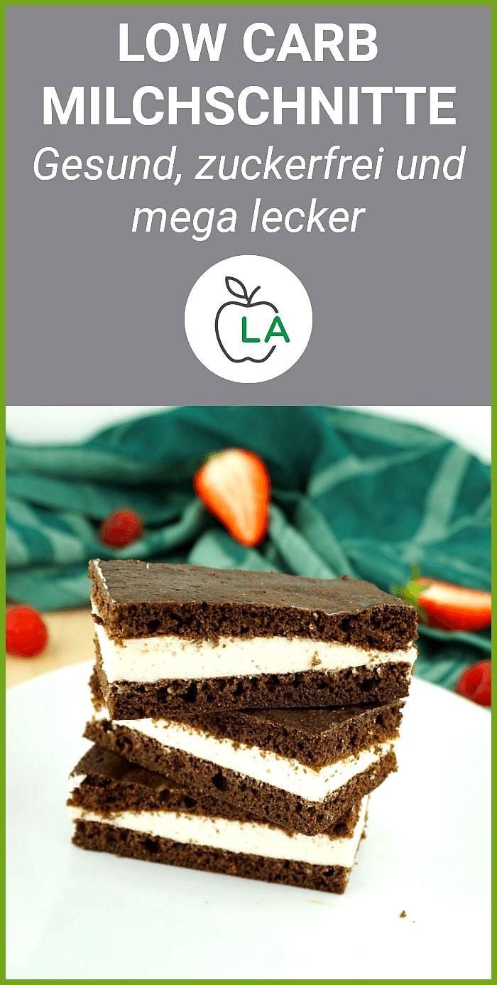 Low Carb Milchschnitte – Der perfekte Snack zum Abnehmen #Abnehmen #Carb #Der #Fitness food lunch #F...
