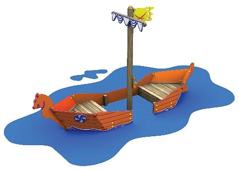 Viking Long Boat Outdoor Playground Equipment www.wicksteed.co.uk ...