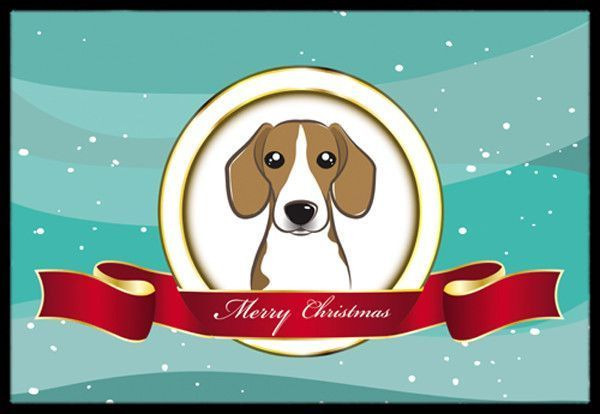 Beagle Merry Christmas Indoor or Outdoor Mat 24x36 BB1549JMAT