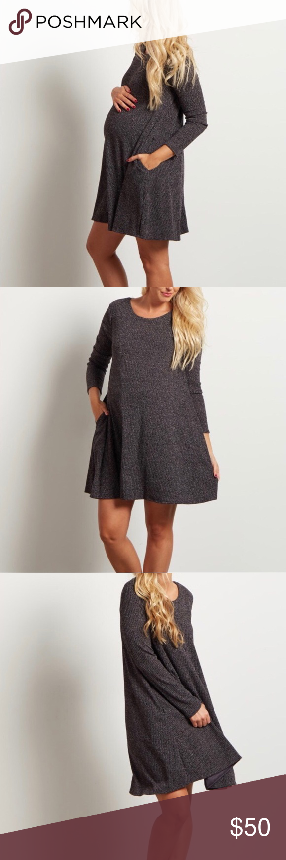 Pinkblush long sleeve maternity sweater dress my posh closet
