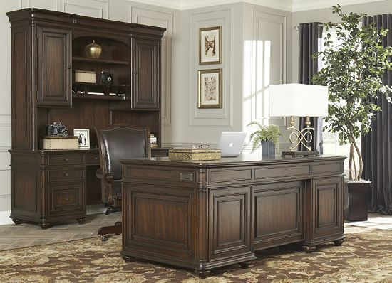 Home Offices, Worthington Executive Desk, Home Offices | Havertys Furniture