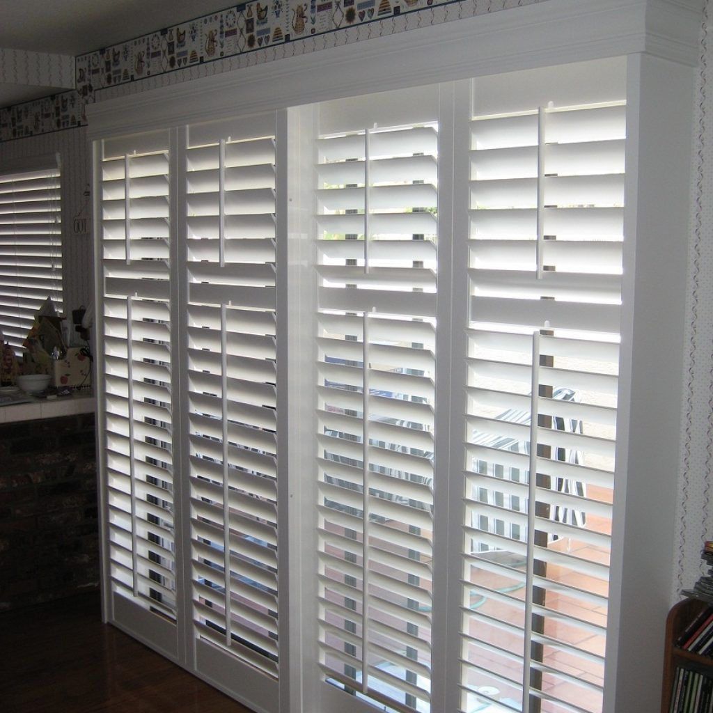 Wooden Door Blinds Faux Wood Blinds For Sliding Doors Decorating Living Rooms