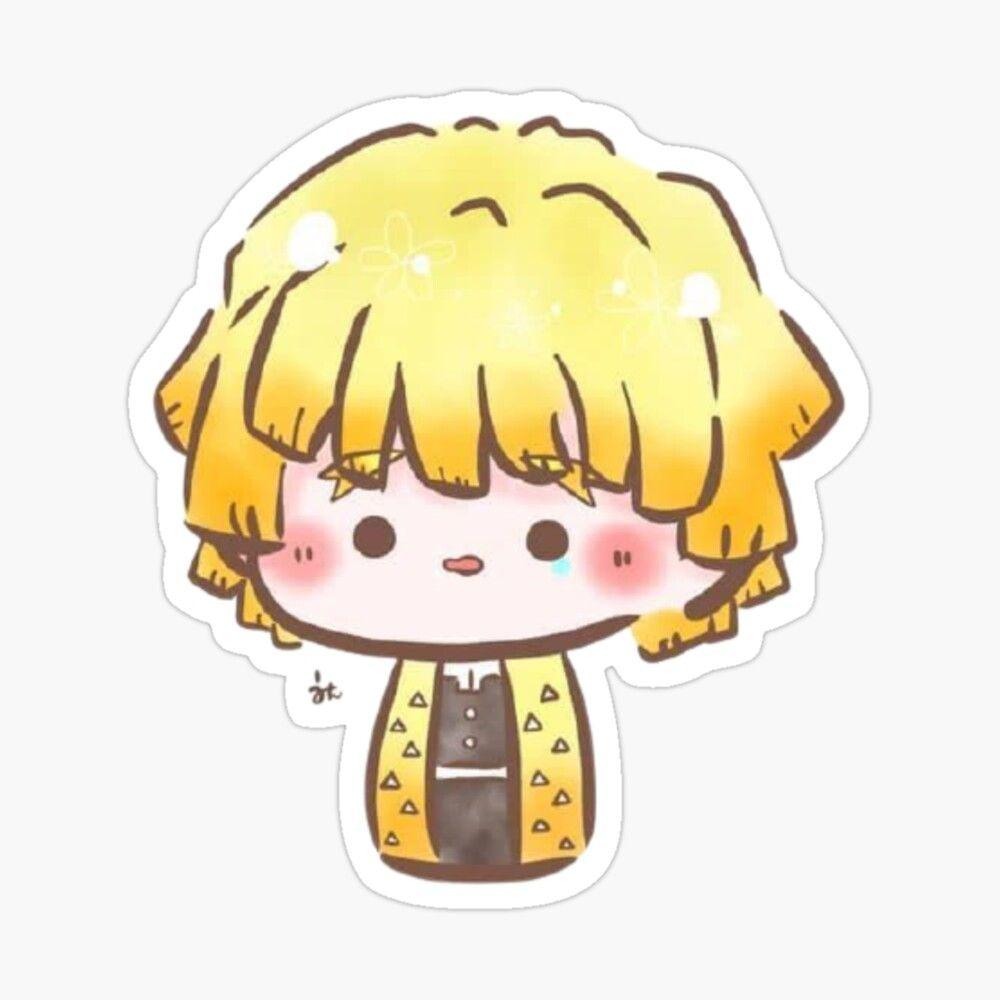 Sticker « Zenitsu chibi » par RidanBaguette en 2021 | Démon anime, Chibi,  Personnages chibi