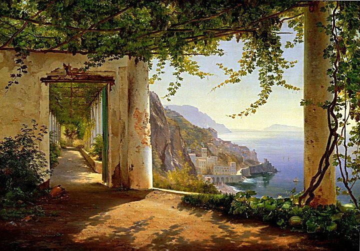 Paintings Of Landscapes Amalfi Coast Italy Classic