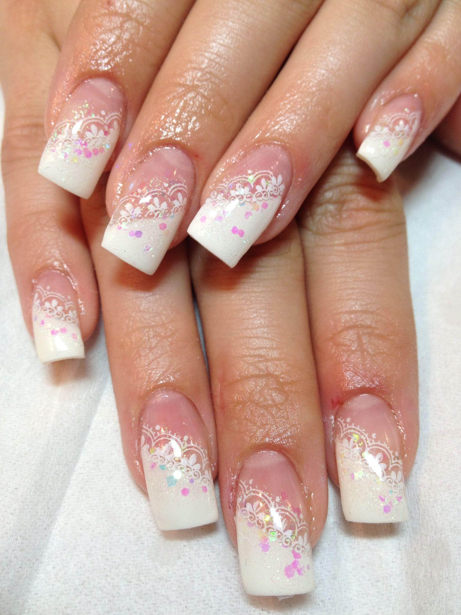 Gel nails bride   UñAs   Pinterest