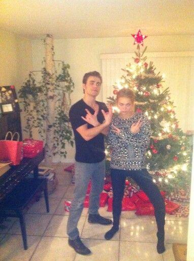 Paul and his sister! | Paul wesley, Damon and stefan ...