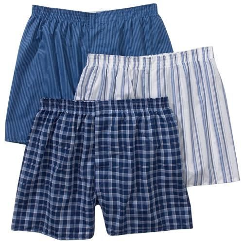 Fruit of the Loom Mens 5 Pack Tartan Plaid Boxers XX-Large, Assorted