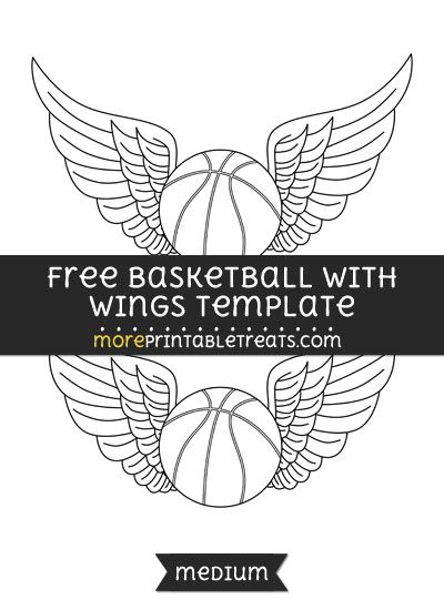 Free Basketball With Wings Template - Medium Shapes and - baseball scoresheet