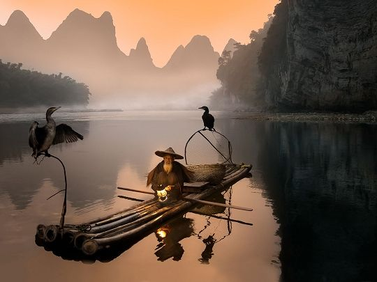 Old Fisherman II by Daniel Metz