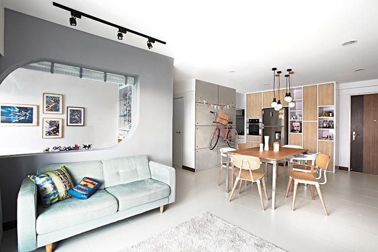 HDB 4RmYishun KitchenDining Room Home Decor Singapore ID