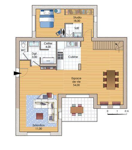 Une maison évolutive Modelos de casas Pinterest - Construire Une Maison De 200m2