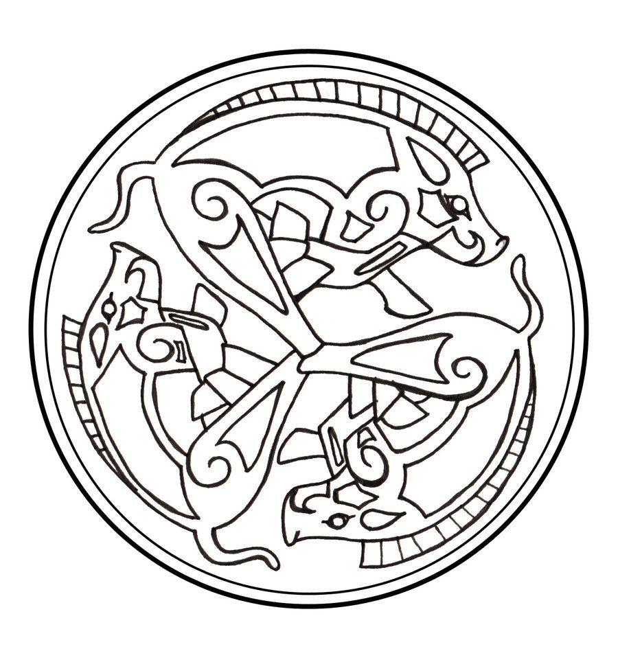 Celtic Boar Triskelion
