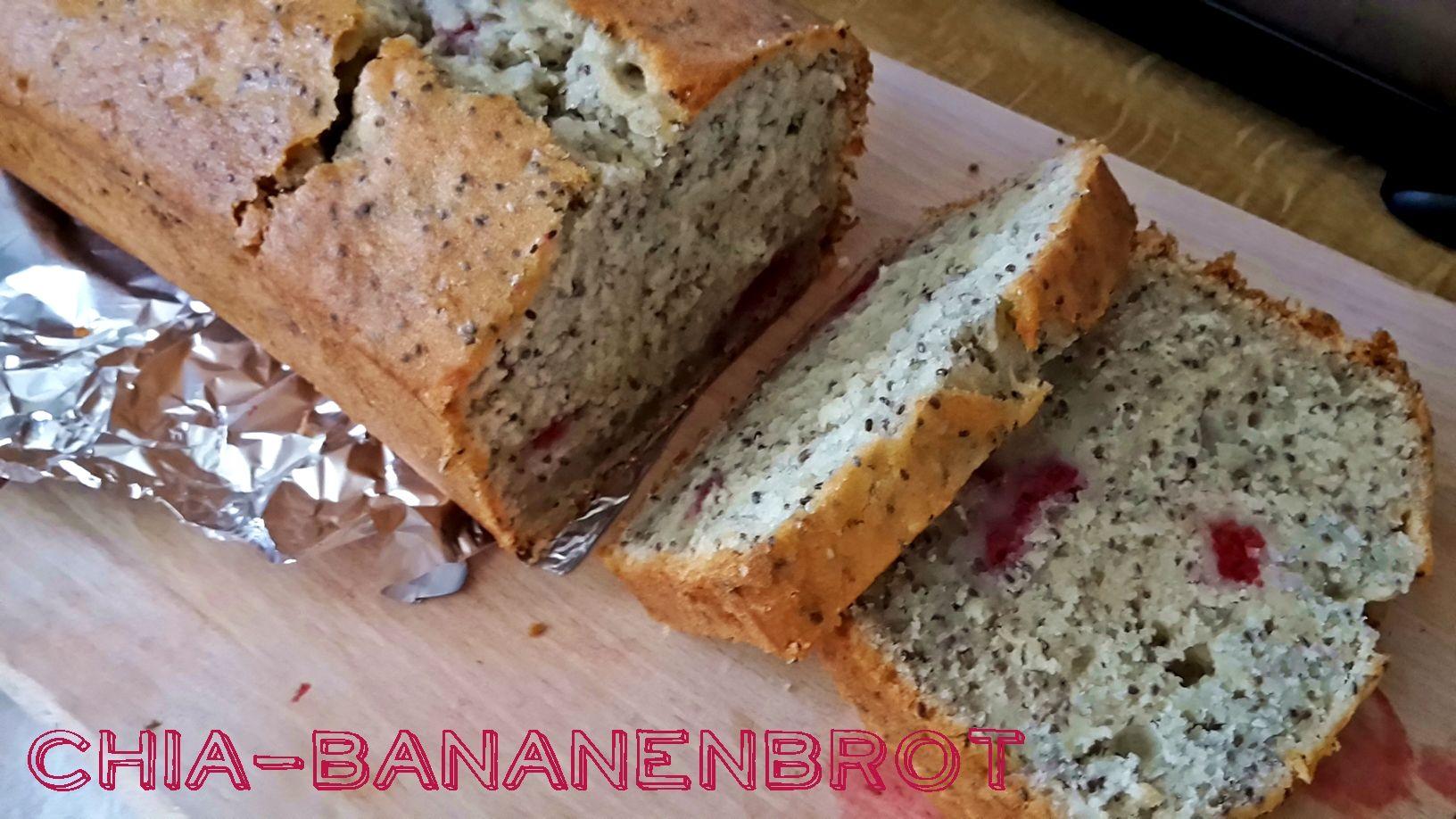 Chia-Bananenbrot mit Himbeeren www.cottoncraftsandcookies.de | My ...