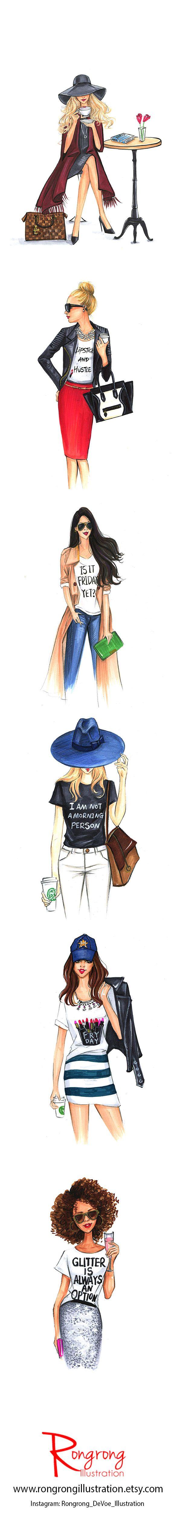 Photo of Fashion illustration & Gift for Girl Boss by RongrongIllustration