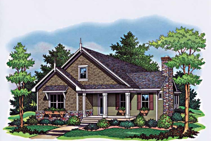 Country Style House Plan 3 Beds 2 Baths 1599 Sq Ft Plan 51 963 Country Style House Plans Cottage House Plans House Plans