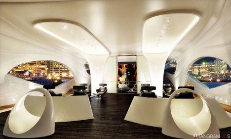 """Oculus"""" Modern Yachts Design. By Kevin Schopfer   Yacht Interior ..."""