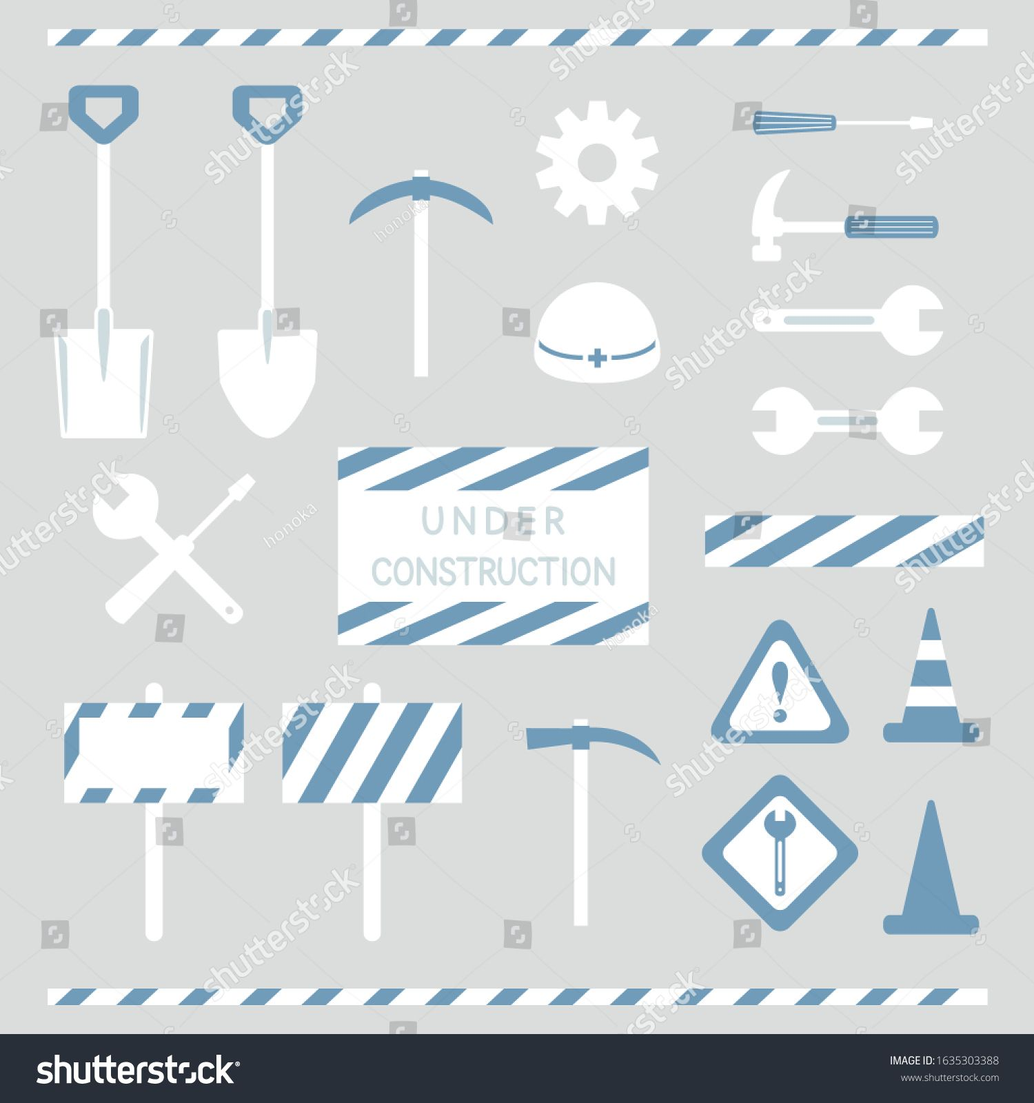 Set of maintenance and under construction objects \u002F