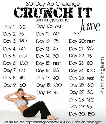 30 Day Crunch Challenge im starting this today!!!!