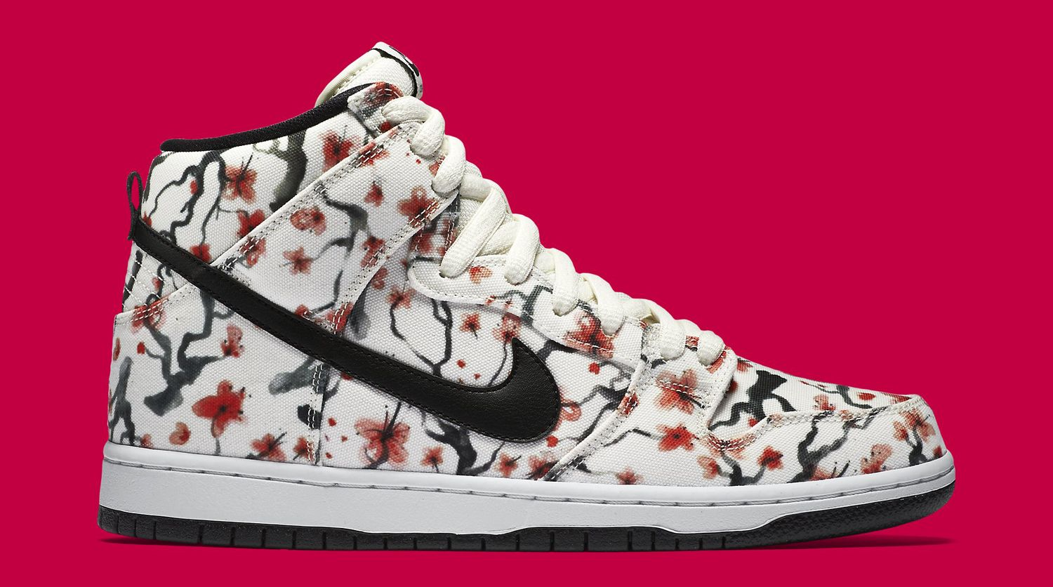 Here's An Official Look At The Nike SB Dunk High Cherry Blossom •  KicksOnFire.com