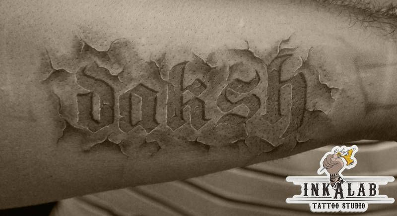 Carved in stone tattoo designs pictures to pin on for Stone tattoo letters