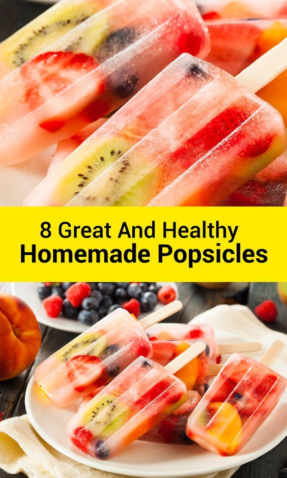 8 Great (and Healthy) Homemade Popsicles #homemadepopsicleshealthy