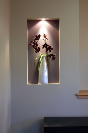 niche murale id es et conseils d 39 am nagement et de d coration salon parement mural niches. Black Bedroom Furniture Sets. Home Design Ideas