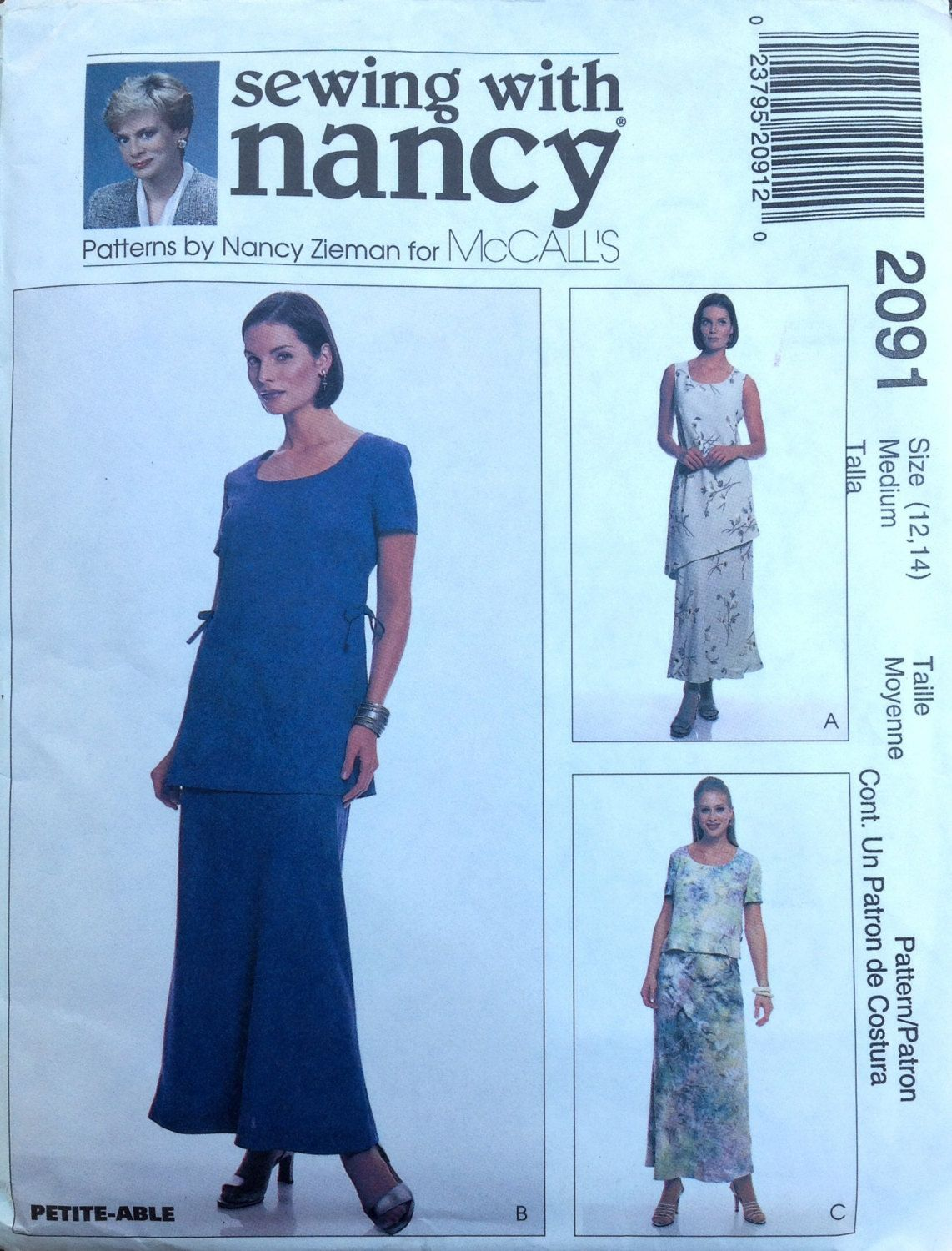 McCall's 2091 UNCUT Misses Tops and Pull-on Bias Skirt by Lonestarblondie on Etsy
