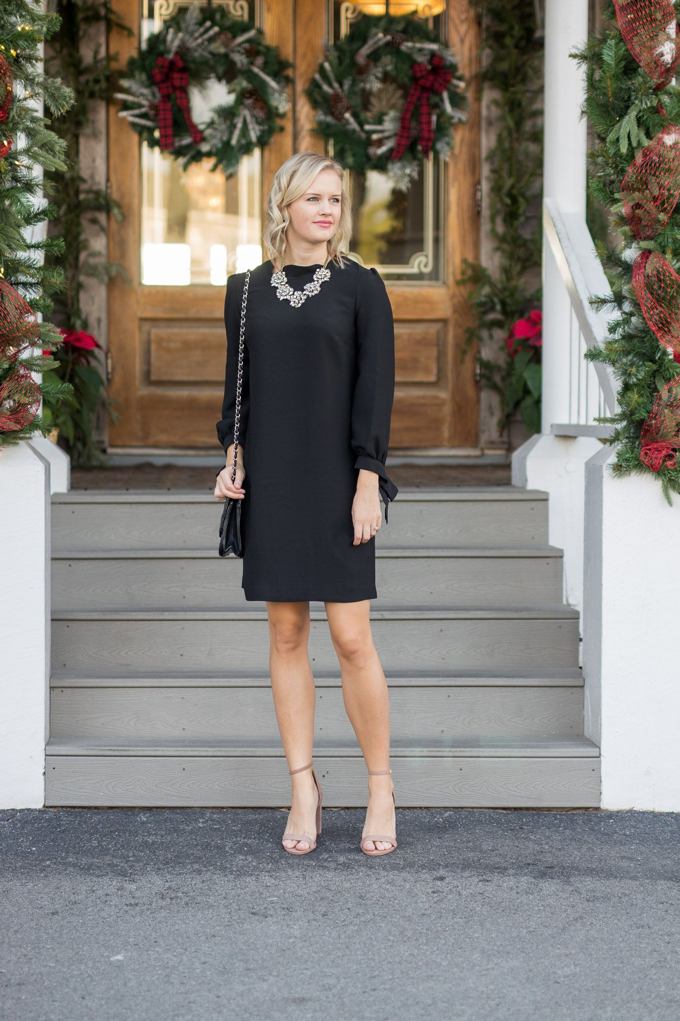 17 Little Black Dresses That Are Perfect For Holiday Parties Treats And Trends Dresses Little Black Dress Black Dress [ 2010 x 1340 Pixel ]
