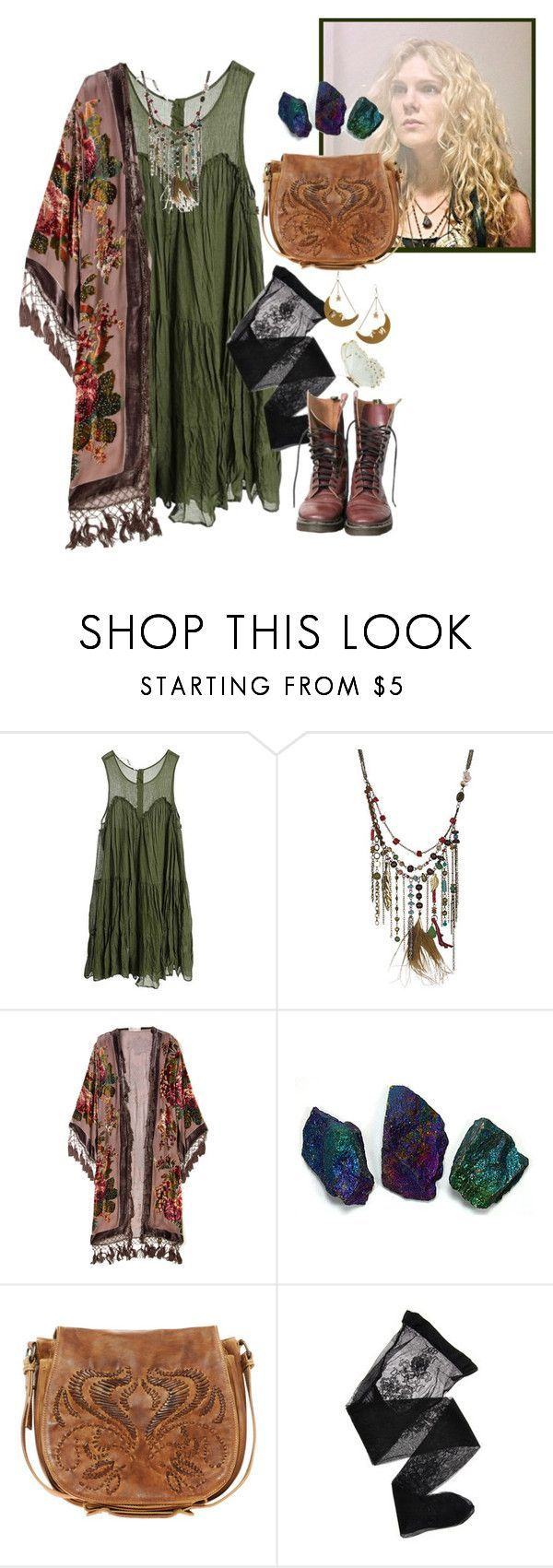 """""""American Horror Story: Misty Day"""" by im-trash ❤ liked on Polyvore featuring Custommade, Coven, Kite and Butterfly, Ash, Emporio Armani, Tatty Devine, women's clothing, women, female and woman - clothing, boys, running, yoga, beach, boho clothes *ad"""